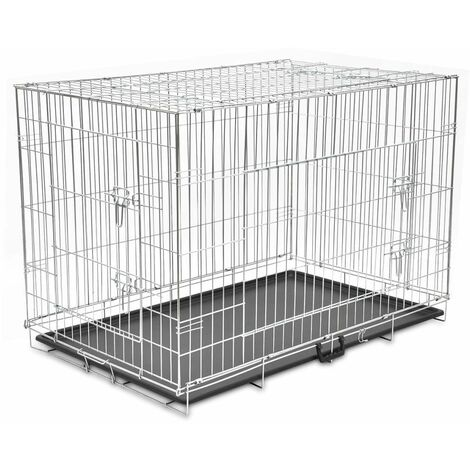 Hommoo Cage métallique et pliable pour chiens XXL HDV06936