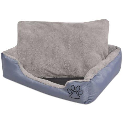 Hommoo Cama para perro con cojín acolchado talla XXL gris