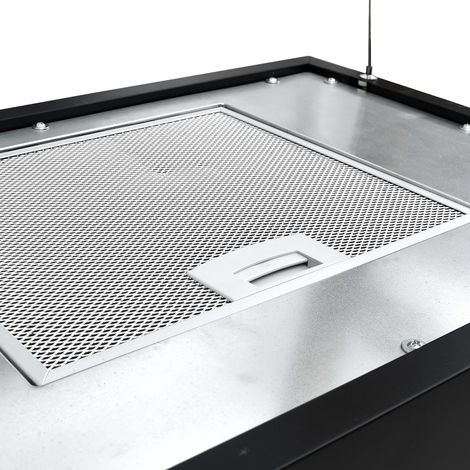 Hommoo Campana extractora colgante táctil LCD acero recubierto 55 cm
