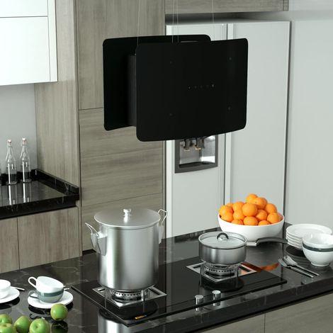 Hommoo Campana extractora colgante táctil LCD vidrio templado