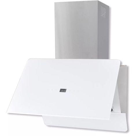 Hommoo Campana extractora cristal templado blanco 600 mm
