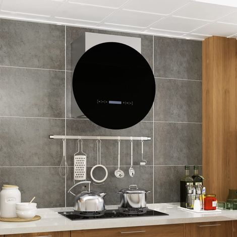 Hommoo Campana extractora de pared pantalla sensor táctil 756 m3/h LED