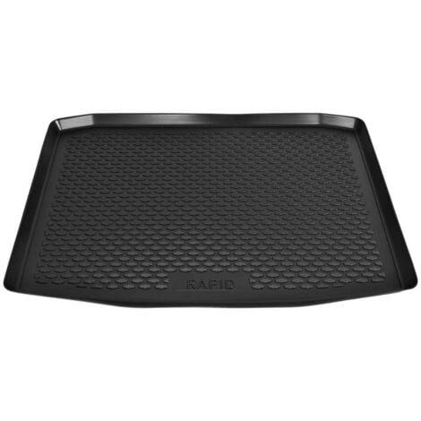 Hommoo Car Boot Mat for Skoda Rapid Spaceback (2013-) Rubber
