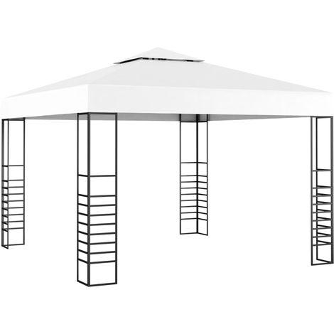 Hommoo Carpa cenador de jardín blanco 3x3 m