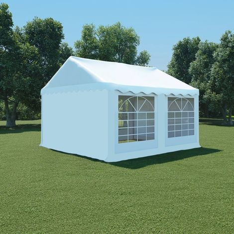 Hommoo Carpa de jardín de PVC 4x4 m blanco