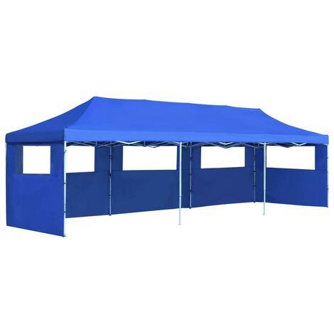 Hommoo Carpa plegable Pop-up con 5 paredes laterales 3x9 m azul