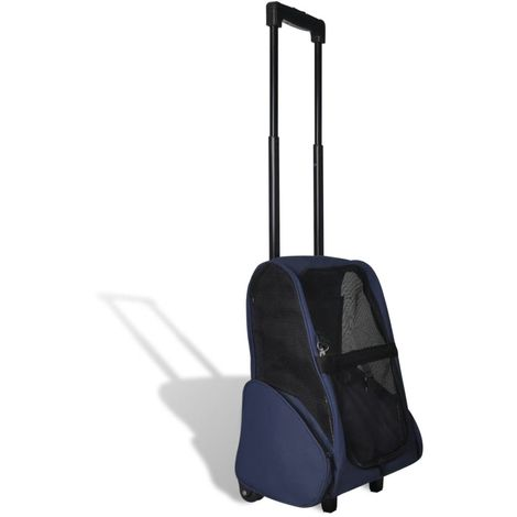 Hommoo Carrito trolley plegable multiusos para mascotas azul