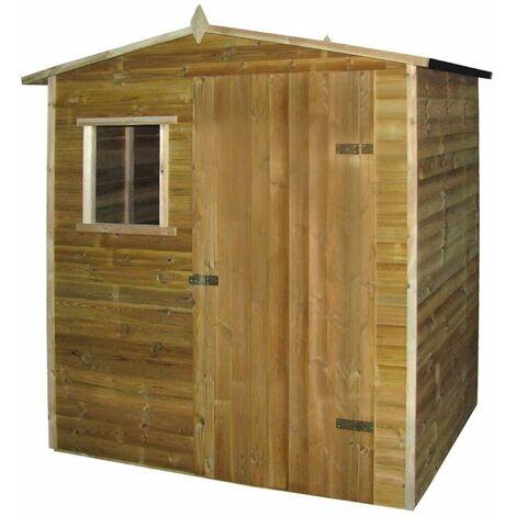 Hommoo Caseta cabaña de jardín de madera de pino impregnada 1,5x2 m