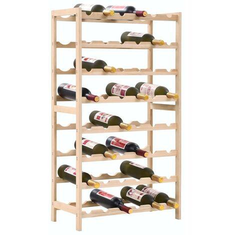 Hommoo Casier à bouteilles Bois de cèdre 57,5 x 28 x 102 cm HDV12372