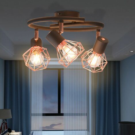 Hommoo Ceiling Lamp with 3 LED Filament Bulbs 12 W QAH10504