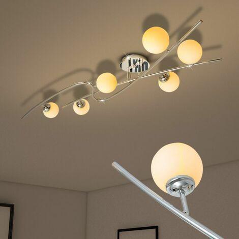 Hommoo Ceiling Lamp with 6 LED Bulbs G9 240 W QAH30405