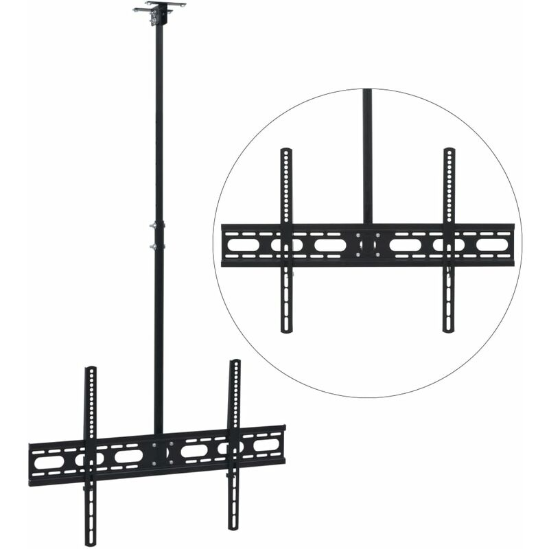 Ceiling Mounted TV Bracket 37'-70' Height Adjustable QAH30460 - Hommoo
