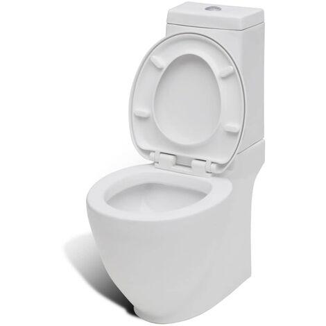 Hommoo Ceramic Toilet Back Water Flow White QAH08174