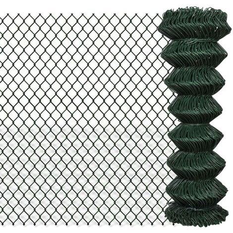 Hommoo Chain Link Fence Galvanised Steel 1.25x25 m VD03524