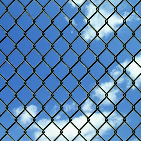 Hommoo Chain Link Fence Galvanised Steel 1.5x15 m Green QAH03520