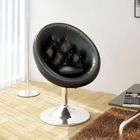 Hommoo Chaise de bar Noir Similicuir