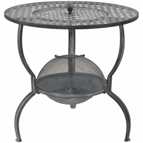 Hommoo Charcoal BBQ Grill Antique Grey 70x67 cm QAH29572