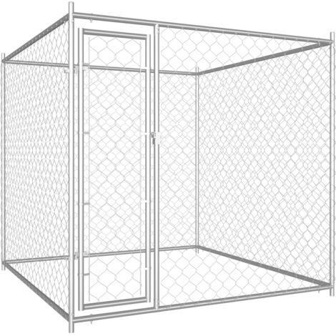 Hommoo Chenil d'extérieur pour chiens 193x193x185 cm