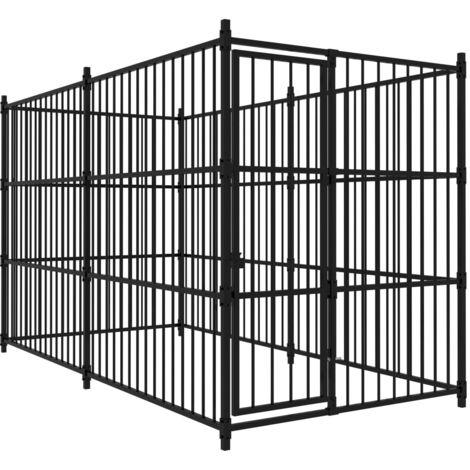 Hommoo Chenil d'extérieur pour chiens 300x150x185 cm