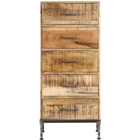 Hommoo Chest of Drawers 45x35x106 cm Solid Mango Wood QAH13658