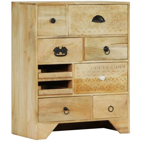 Hommoo Chest of Drawers 60x30x75 cm Solid Mango Wood VD13433
