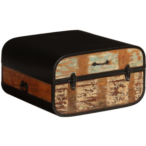 Hommoo Chest Solid Reclaimed Wood 60x60x35 cm