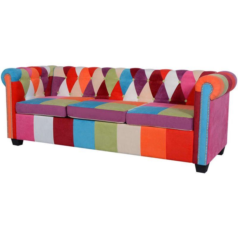 Chesterfield Sofa 3-Sitzer Stoff VD09668 - Hommoo