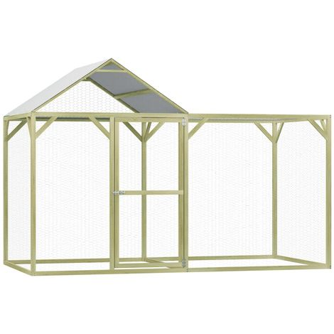 Hommoo Chicken Cage 3x1.5x2 m FSC Impregnated Pinewood