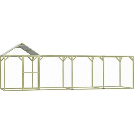 Hommoo Chicken Cage 6x1.5x2 m FSC Impregnated Pinewood
