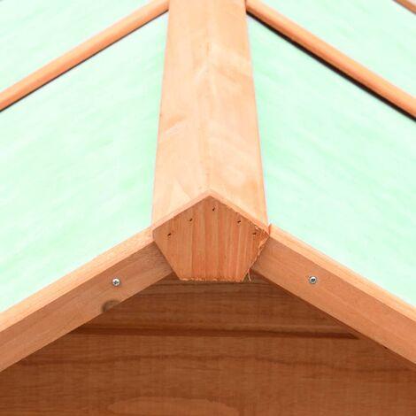 Hommoo Chicken Cage Solid Pine & Fir Wood 170x81x110 cm QAH07200