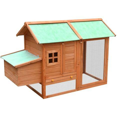 Hommoo Chicken Cage Solid Pine & Fir Wood 170x81x110 cm VD07200
