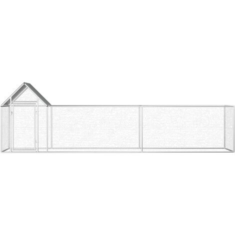 Hommoo Chicken Coop 5x1x1.5 m Galvanised Steel QAH06049