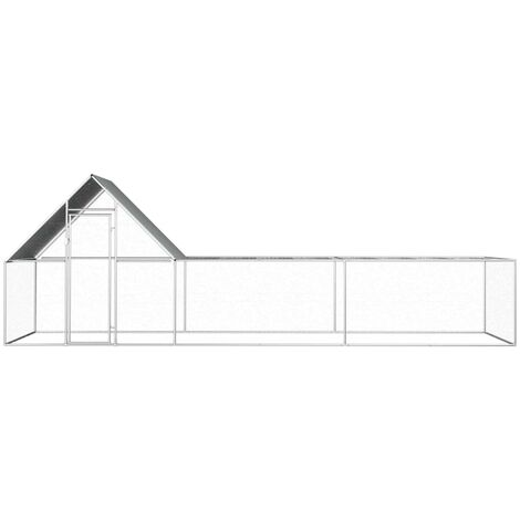 Hommoo Chicken Coop 6x2x2 m Galvanised Steel QAH06051