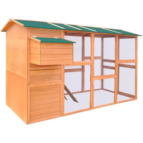 Hommoo Chicken Coop Wood 295x163x170 cm