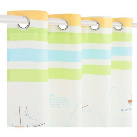 Hommoo Children's Printed Blackout Curtains 2 pcs 140x240cm Travel the World QAH02502