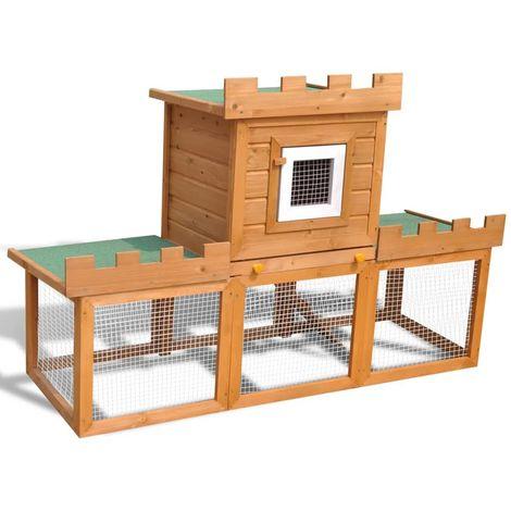 Hommoo Clapier large d'extérieur avec 1 seule maison