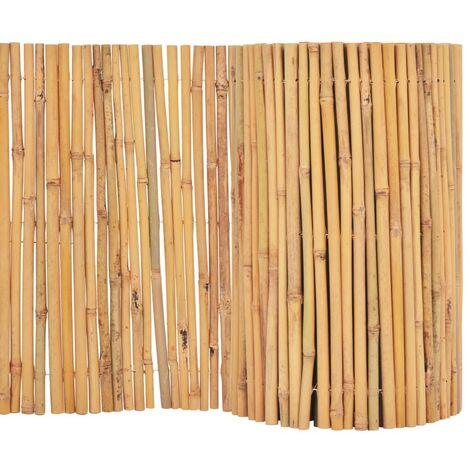 Hommoo Clôture Bambou 500 x 50 cm HDV04752