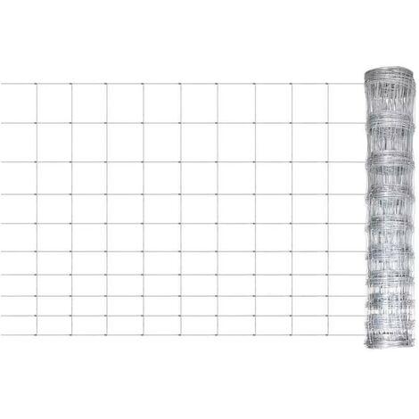 Hommoo Clôture de jardin Acier galvanisé 50 m 120 cm HDV03686