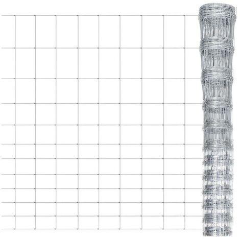 Hommoo Clôture de jardin Acier galvanisé 50 m 150 cm HDV03687
