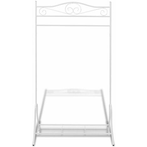 Hommoo Clothing Rack White Steel QAH09582