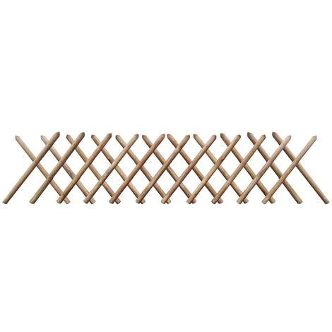Hommoo Clôture à treillis 250 x 60 cm Bois imprégné FSC
