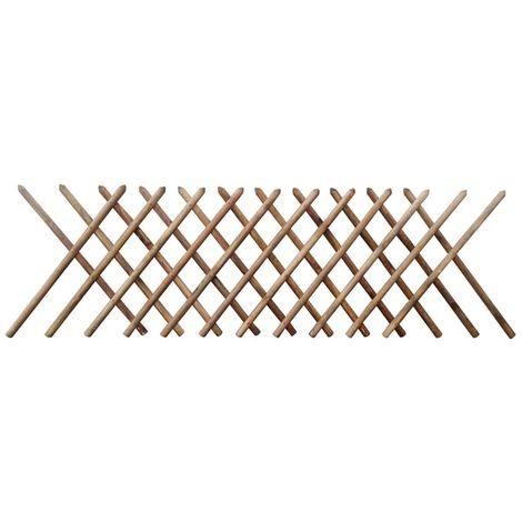 Hommoo Clôture à treillis Bois imprégné FSC 250 x 100 cm