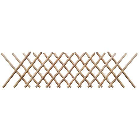 Hommoo Clôture à treillis Bois imprégné FSC 250 x 80 cm