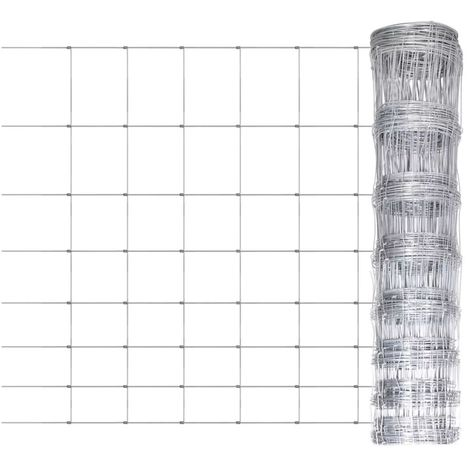 Hommoo Clôture de jardin Acier galvanisé 50 m 100 cm