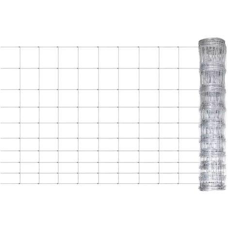 Hommoo Clôture de jardin Acier galvanisé 50 m 120 cm