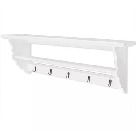 Hommoo Coat Rack MDF White Baroque Style