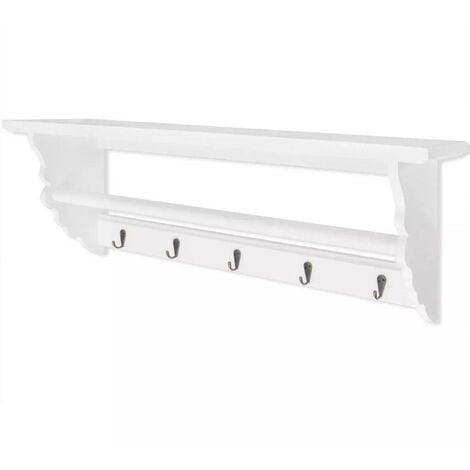 Hommoo Coat Rack MDF White Baroque Style VD09353