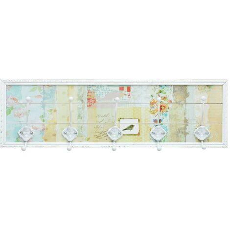 Hommoo Coat Rack White 20.2x8.5x66.5 cm MDF QAH25926