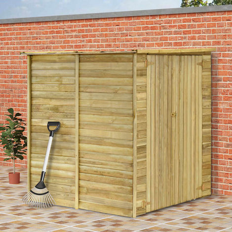 Hommoo Cobertizo para jardín de madera pino impregnada 157x159x178 cm