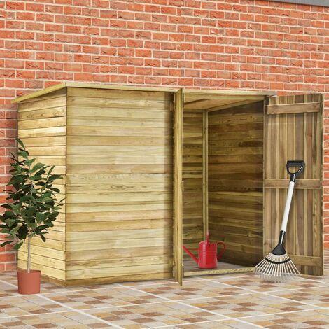 Hommoo Cobertizo para jardín de madera pino impregnada 232x110x170 cm